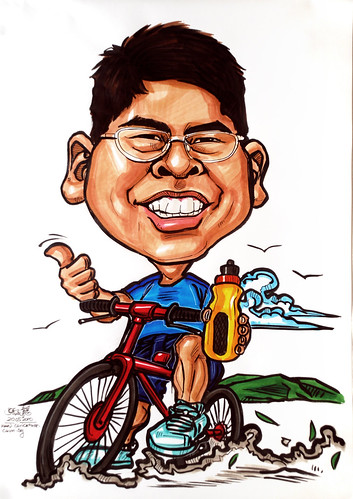 Caricatures for NUS - cycling