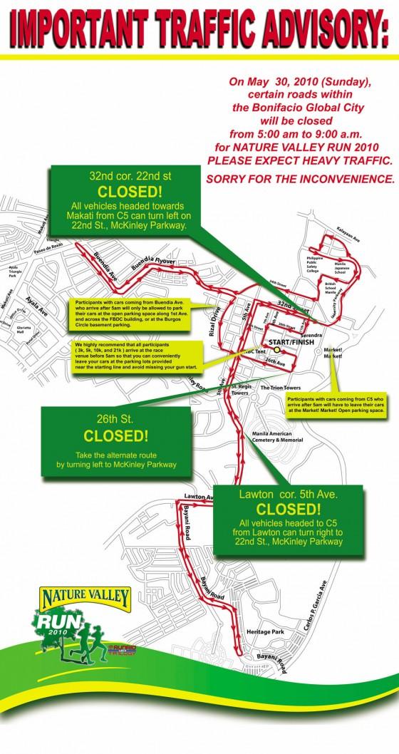 Nature Valley Run 2010 Traffic Advisory