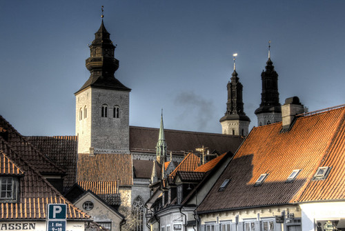 Roofs and towers. Visby. Torres y tejados.