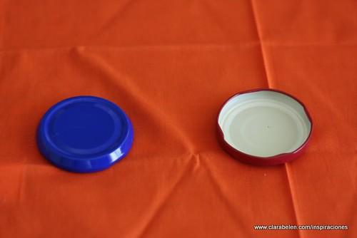 Tapaderas de conservas para hacer el anillero
