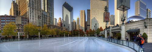 The McCormick Tribune Plaza Ice Rink