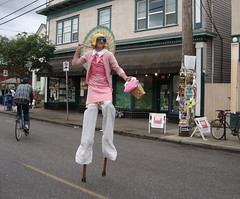 Day 278/365: Guy on Stilts Dressed as a Fisher-Price Lady by Rozanne