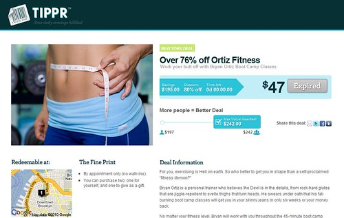 Tippr Ortiz Fitness Deal
