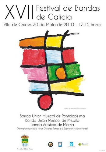 Vila de Cruces 2010 Festival de bandas - cartel