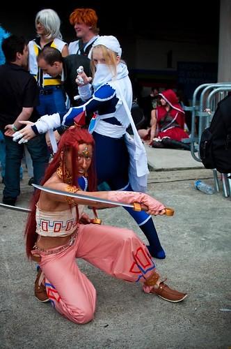 Epitanime 2010 - cosplay - une Gerudo u0026 Sheik (The Legend of Zelda Ocarina & Epitanime 2010 - cosplay - une Gerudo u0026 Sheik (The Legend of Zelda ...