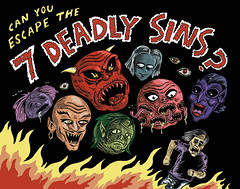 7 Deadly Sins (RayGun Sharpadero) Tags: music fire mix cartoon evil pride sin heads sloth cdcover lust envy imp wrath jealousy greed avarice sevendeadlysins inter