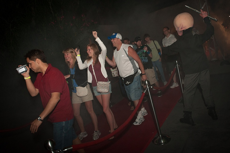 Guests Arrive at the Star Tours Meet-Up at Disney's Hollywood Studios