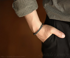 Adonis - Chainmaille mens bracelet oxidized blackened solid Sterling Silver. Handmade chainmail jewellery for Men by Arctida (Arctida) Tags: wood urban brown man black hot sexy male fashion metal modern silver dark him for women shiny industrial noir waves sweden stockholm handmade masculine brother metallic manly father gothic rustic style auburn jewelry tribal retro dude chain trends gift trendy bracelet link mens strong strength accessories sterling organic woven custom simple ethnic powerful plain unisex artisan scandinavian personalized bold chainmail sculpted pagan solid classy gunmetal steampunk virility blackened oxidized sculptured metalsmith chainmaille vitality