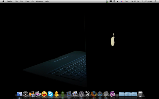 MacBook in the Dark