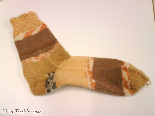 Toe-Up Socke #1