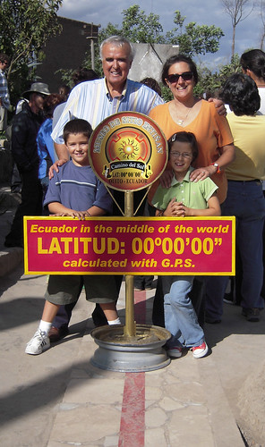 The Baquerizo Family at the equator