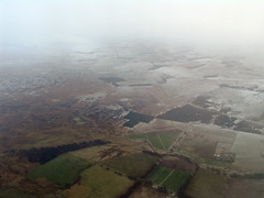 Coming into Scotland (lev) Tags: above winter snow field weather scotland countryside flying cloudy snowy flight aerial murky wintery wintry dreich
