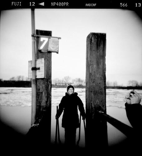 Holga: Eis auf der Süderelbe