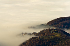 Valle Reatina immersa nella nebbia (Simone Tagliaferri) Tags: winter mist landscape nebbia inverno paesaggio rieti yourcountry