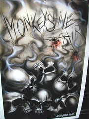 Airbrush Art (blondygirl) Tags: skeleton motorcycle airbrush motorcycleart monkeyshine mmic cohv edmontonmotorcycleshow motorcycleandmopedindustrycouncil canadianoffhighwayvehicledistributorscouncil 1000ormoreviews