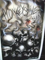 Airbrush Art (blondygirl) Tags: skeleton motorcycle airbrush motorcycleart monkeyshine mmic cohv edmontonmotorcycleshow motorcycleandmopedindustrycouncil canadianoffhighwayvehicledistributorscouncil 1000ormoreviews