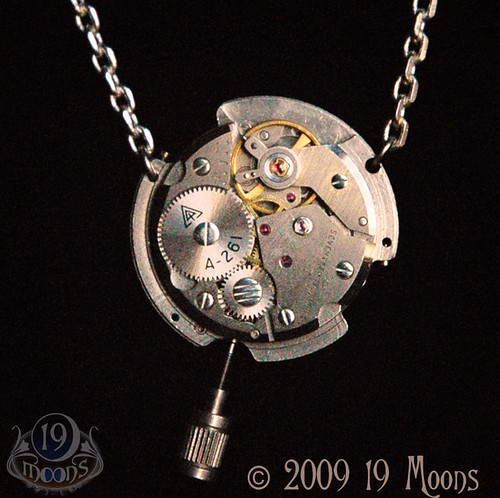 ASTROLABE II Steampunk Original Necklace by 19 Moons