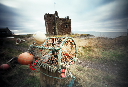 Pinhole image Creel and castle 05Feb09