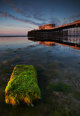 Worthing Pier (Dennis Reddick Photography) Tags: morning seascape sunrise landscape sussex pier worthing lowtide worthingpier