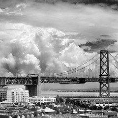 San Francisco Bay Bridge and Clouds