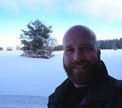 hiking in the Rhn (mbaer211) Tags: bear schnee gay snow male me self beard head shaved bart bald wandern rhn glatze shavehead