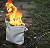 imagebank #1: Anticapitalist (ludwig van standard lamp) Tags: colour fire arty stock burning creativecommons handbag stockphoto imagebank anticapitalist