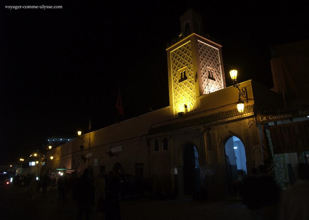 Lumières de nuit de la mosquée