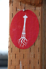 spaceneedle roots sticker (tiffanycsteinke) Tags: seattle washington sticker stickerart spaceneedle spaceneedleroots subcultureapparelcom