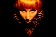 pottfrilla and orange hair. not a great month. (mykonos.) Tags: portrait dark ella schierbeck powmerantusenord