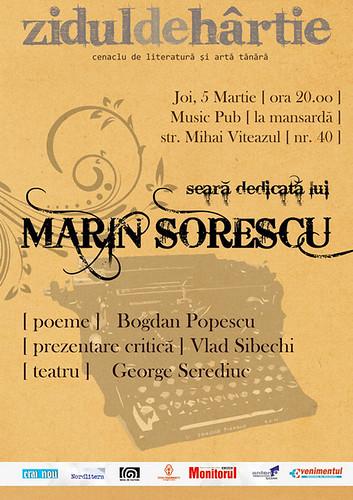 5 Martie 2009 » Seară dedicată lui Marin SORESCU