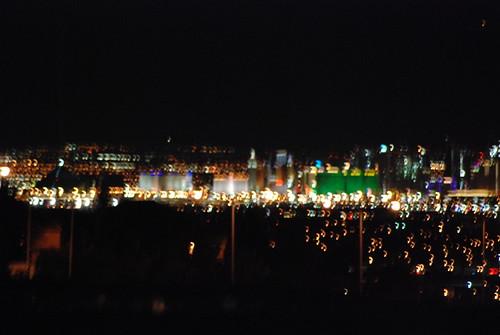 las vegas skyline. las vegas skyline at night.