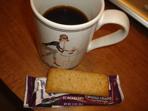 Coffee and Nutrigrain Bar