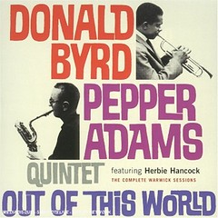 Byrd Donald & Pepper Adams - Out of this World (Banni1965) Tags: world out pepper this adams cd donald cover byrd