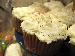 Espresso Cupcakes with White Chocolate Frosting