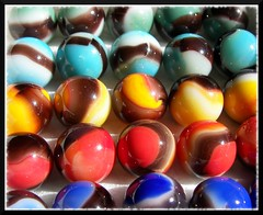 Blackies (Dusty_73) Tags: game west agate colors childhood vintage toy virginia marbles marble parkersburg pastime blackies mibs vitro vitroagate