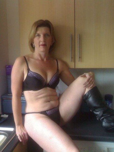Granny hot legs and feet in stockings and red nylon toes 5