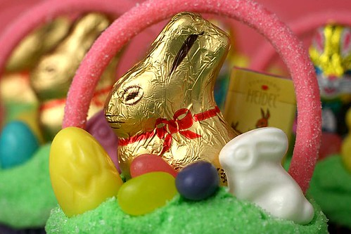 Lindt Chocolate Bunny Basket