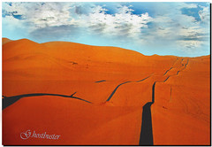 Algeria - Gas pipelines  in the desert (G.hostbuster (Gigi)) Tags: red sky lines algeria sand desert dunes dune gas cielo rosso pipeline deserto sabbia ghostbuster tubi linee theperfectphotographer gigi49 mmmilikeit