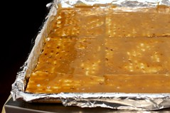 caramel-coated matzo
