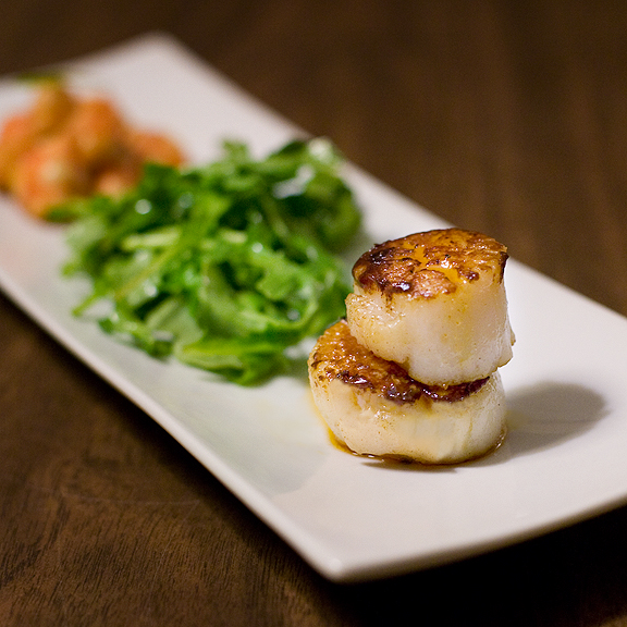 Porchestra Bacon-Fat Seared Scallops
