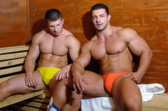 Steamy (buffntuff28) Tags: pecs arms muscle muscular chest models hunk buff flex biceps humpy hotmen shitless hotstuds musclemen humpyhunk