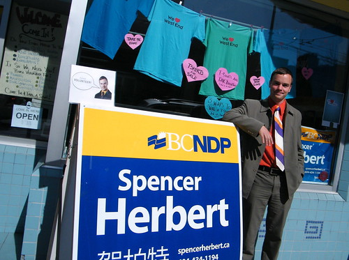 Vancouver-West End Candidate, Spencer Herbert