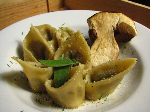 Porcini Tortelloni with Brown Butter