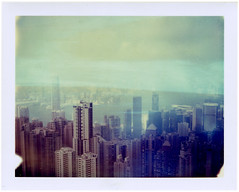 Hong Kong (Kat White) Tags: city film polaroid hongkong 360 expired victoriapeak iduv