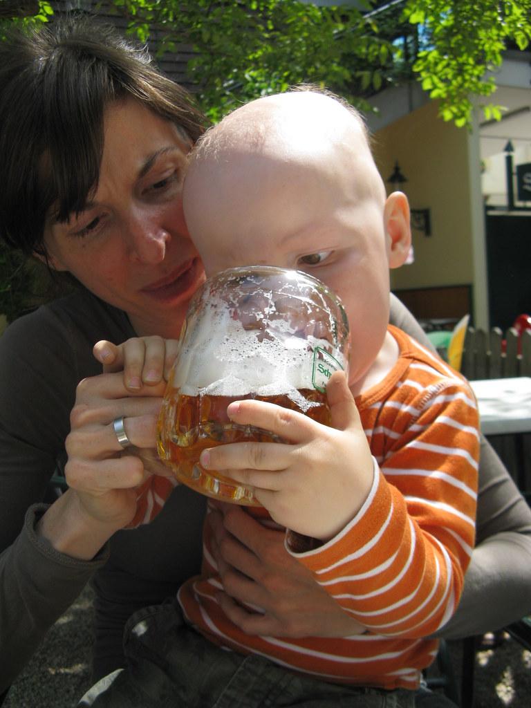 Das erste Bier!