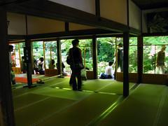 veranda (Molly Des Jardin) Tags: green japan garden religious temple kyoto hiking buddhist religion buddhism hike mat veranda tatami ohara kansai 2009 sanzenin 大原