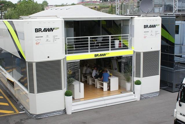 GP España 2009: Motorhome Brawn GP