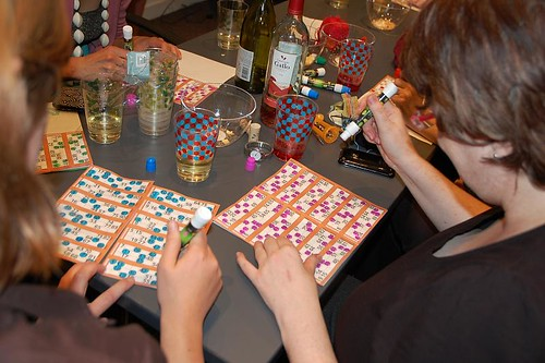 Booze and gambling - a typical knitters night