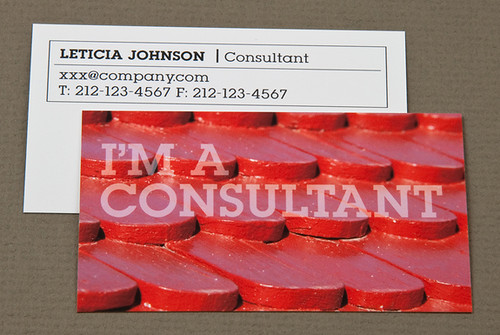 Home Maintenance Business Card with Red Shingles