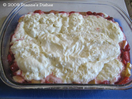 Strawberry Rhubarb Cobbler: Ready for Sugar Topping